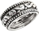 Barse Women's Sterling Silver Classic Triple Set Ring SR3324
