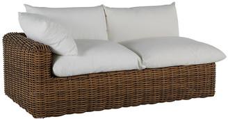 Montecito Left-Arm Outdoor Chaise - Raffia - SUMMER CLASSICS INC - frame, raffia; upholstery, white