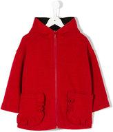 Simonetta hooded coat - kids - Polyamide/Polyurethane/Modal/Wool - 4 yrs