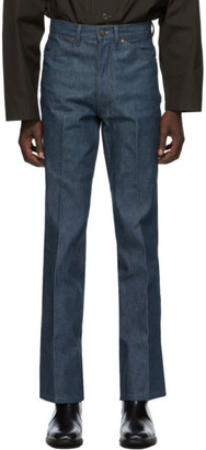 Lemaire Blue Boot Cut Jeans