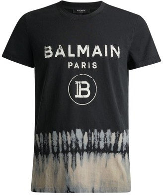 Balmain Tie-Dye Logo T-Shirt