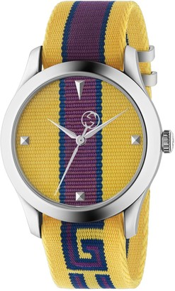 Gucci Men's Timeless Nylon Watch, 37mm