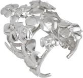 Natori Hammered Metal Cuff - Silver