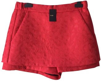 Maje Spring Summer 2020 Red Polyester Shorts