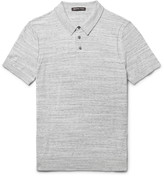 Michael Kors - Mélange Cotton-jersey Polo Shirt