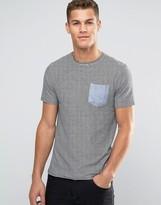 Brave Soul Fine Stripe Pocket T-shirt