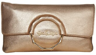 Lilly Pulitzer Malindi Clutch (Gold Metallic) Handbags