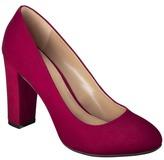 Merona Women's Meg Chunky Heel Pumps - Red