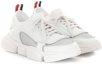 Moncler Briseis leather and mesh sneakers