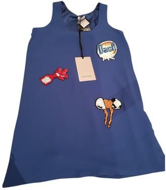 Au Jour Le Jour Blue Silk Dress for Women