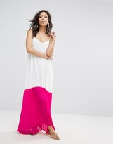 boohoo Contrast Hem Maxi Dress
