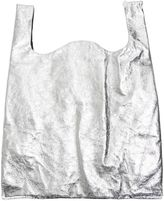 MM6 MAISON MARGIELA Silver Eco-leather Metallic Effect Mirror Shopping Bag
