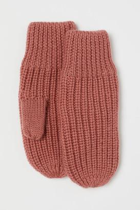 H&M Wool Mittens - Orange