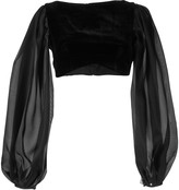 Rasario puff sleeve velvet top