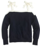J.Crew Women's Cold Shoulder Merino Wool Sweater