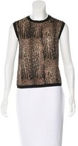 Giambattista Valli Wool Leopard Print Top