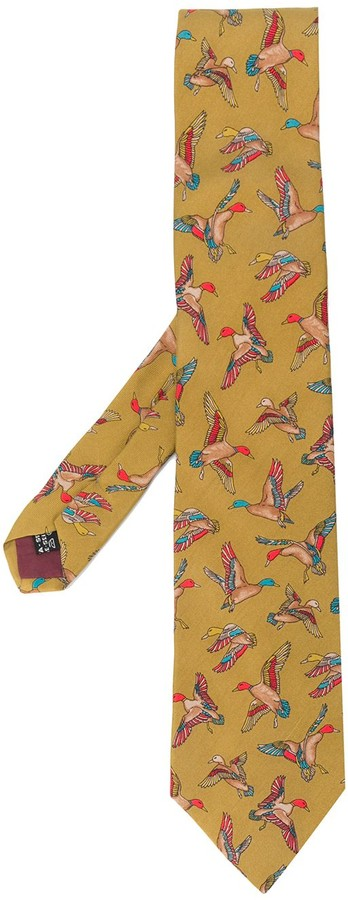 Salvatore Ferragamo Pre Owned 1990's Duck Print Tie