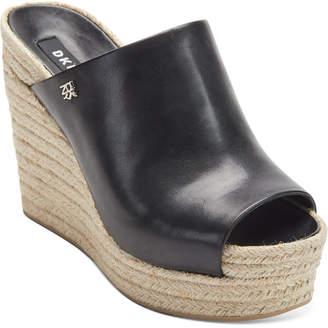 DKNY Women Eari Wedge Slide Sandals