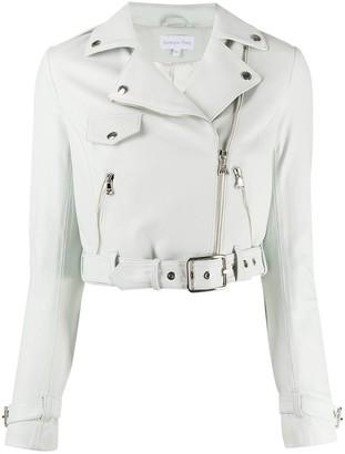 Patrizia Pepe Cropped Biker Jacket