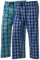 Hanes Big & Tall 2-pack Plaid Woven Lounge Pants