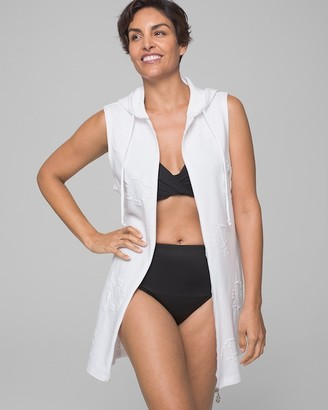 Soma Intimates Sail Away Puff Zip Front Hoodie Dress Coverup