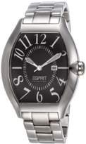Esprit EL101081F06 Hector Men's Watch Analogue Quartz, Black Dial, Silver Steel Strap