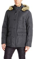 Buffalo David Bitton Buffalo by David Bitton Men's Polyester Zip Front Parka With Hood