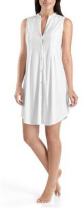 Hanro Cotton Deluxe Sleeveless Shirtwaist Nightgown