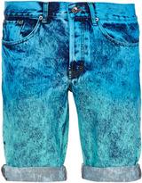 Topman Green and Blue Dip Dye Shorts