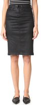 Blank Vegan Leather Skirt