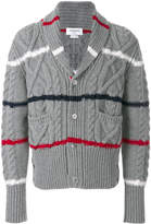 Thom Browne chunky knit striped cardigan