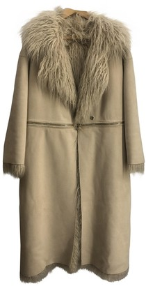 Elisabetta Franchi Beige Faux fur Coat for Women