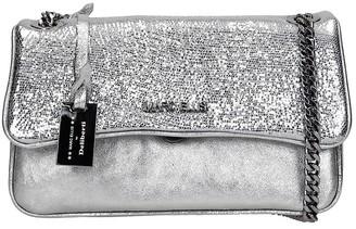 Marc Ellis Brodway M Shoulder Bag In Silver Leather