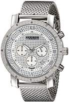 Akribos XXIV Men's AK713SS Grandiose Diamond-Accented Stainless Steel Watch with Mesh Bracelet
