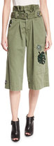 Marc Jacobs Embellished Cargo Shorts, Military Green