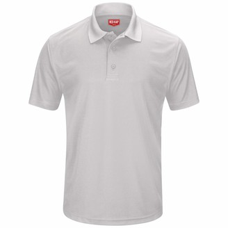 Red Kap Men's Short Sleeve Pocketless Knit Performance Polo