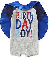 Mud Pie Baby Boys 12-18 Months Birthday Boy Shortall & Cape Set