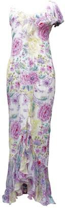 Ungaro Multicolour Silk Dress for Women Vintage