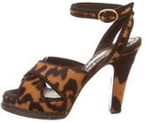 Saint Laurent Ponyhair Platform Sandals