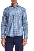 Toscano Jaspe Plaid Sport Shirt