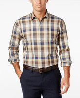 Tasso Elba Men's Plaid Soft Cotton Long-Sleeve Classic-Fit Shirt, Only at Macy's