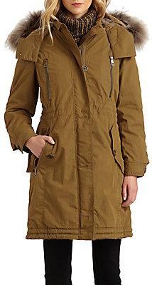 Burberry Fur-Trimmed Stadium Coat