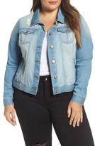 Junarose Plus Size Women's Mikara Denim Jacket