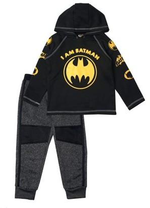 Batman DC Comics Graphic Pullover Hoodie & Jogger 2 Piece Set (Little Boys)
