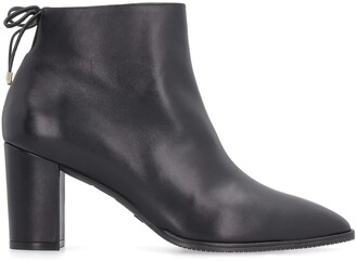 Stuart Weitzman Gardiner Leather Pointy-toe Ankle-boots