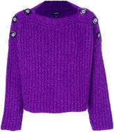 Isabel Marant button shoulder sweater - women - Polyester/Wool/Alpaca - 38