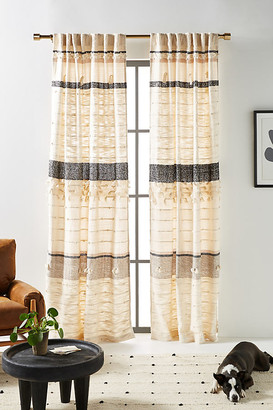 Anthropologie All Roads Tasseled Curtain By in Assorted Size 50X63