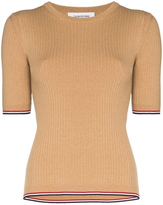 Thom Browne ribbed-knit T-shirt
