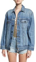 Alexander Wang Daze Oversized Denim Jacket, Light Blue