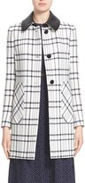 Nordstrom Women's Leather Collar Check Jacket